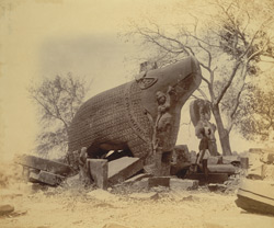 General view of the massive Varaha statue, Eran, Sagar District